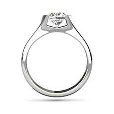 Damaris platinum solitaire ring
