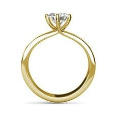 Renata yellow gold diamond ring