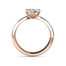 Augusta rose gold solitaire ring