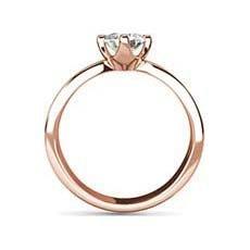 Augusta rose gold engagement ring
