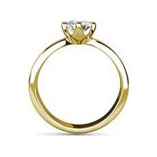 Augusta yellow gold engagement ring