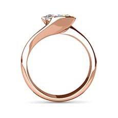 Briony rose gold diamond engagement ring