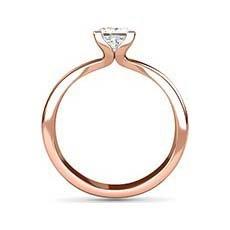 Eloise rose gold princess cut ring