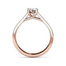 Yasmin rose gold diamond ring