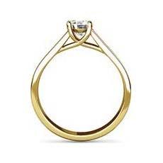 Yasmin yellow gold engagement ring