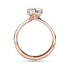 Stephanie rose gold ring