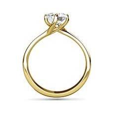 Stephanie yellow gold diamond ring