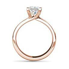 Judy rose gold engagement ring
