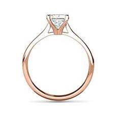 Melissa rose gold princess cut ring