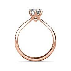 Lois rose gold engagement ring