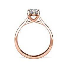 Morgan rose gold oval engagement ring