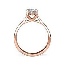 Morgan rose gold engagement ring