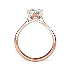 Leah rose gold solitaire engagement ring