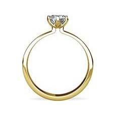 Orla yellow gold engagement ring