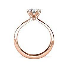 Aisha rose gold engagement ring
