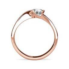 Danielle rose gold engagement ring