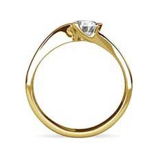 Danielle yellow gold diamond ring