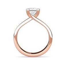 Rosheen rose gold princess cut ring