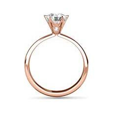 Holly rose gold engagement ring