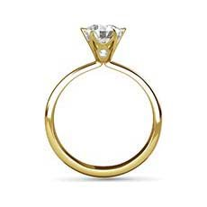 Holly yellow gold diamond ring