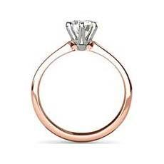 Isabella rose gold ring