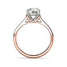 Jemima rose gold solitaire engagement ring