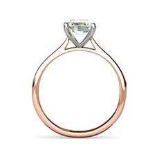 Belita rose and white gold engagement ring