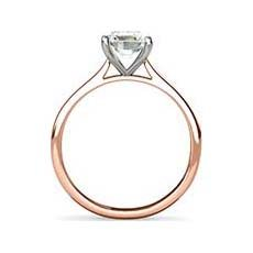 Belita white and rose gold engagement ring
