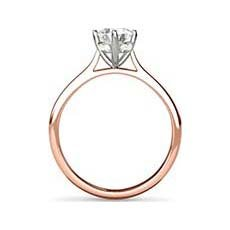 Delphine rose gold solitaire engagement ring
