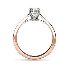 Aspen rose gold diamond ring