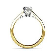 Aspen yellow gold diamond engagement ring