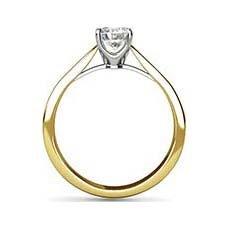 Aspen yellow gold engagement ring