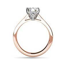 Persephone rose gold diamond engagement ring