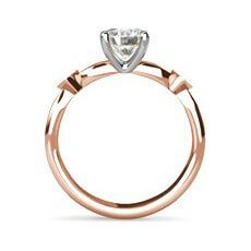 Ivy rose gold diamond ring