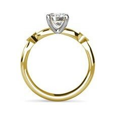 Ivy yellow gold engagement ring