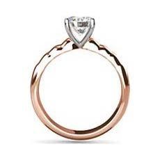 Whitney rose gold engagement ring