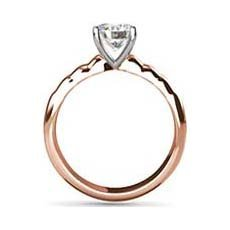 Whitney rose gold engagement ring