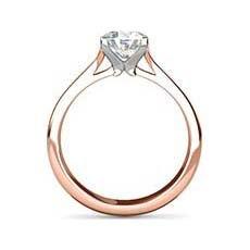 Maria rose gold engagement ring