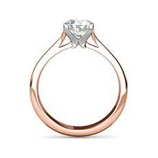 Maria rose gold engagement ring
