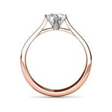 Jessica rose gold solitaire ring