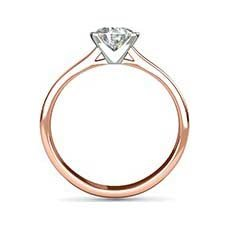 Lucy rose gold engagement ring