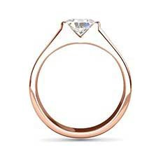 Simone rose gold oval engagement ring