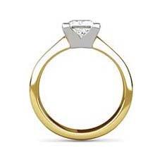 Hazelle yellow gold engagement ring