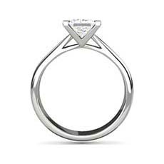 India princess cut platinum engagement ring