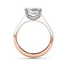 Linda rose gold diamond ring