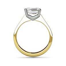 Linda yellow gold diamond engagement ring