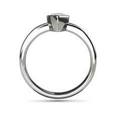 Savannah pear cut diamond ring