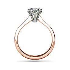Pandora rose and white gold engagement ring