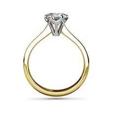 Pandora yellow gold diamond engagement ring