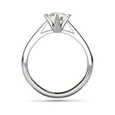 Lily platinum ring